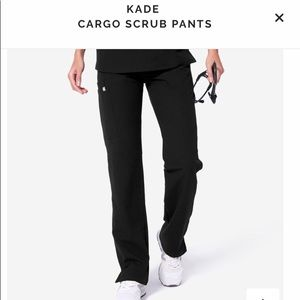 FIGS Kade Cargo Scrub Pants, Black S